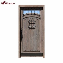Multiple Color Options Wood Replacement Entry Doors Single Front Doors Wrought Iron Gates For Sale