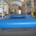 Blue inflatable pool/adult plastic swimming pool price