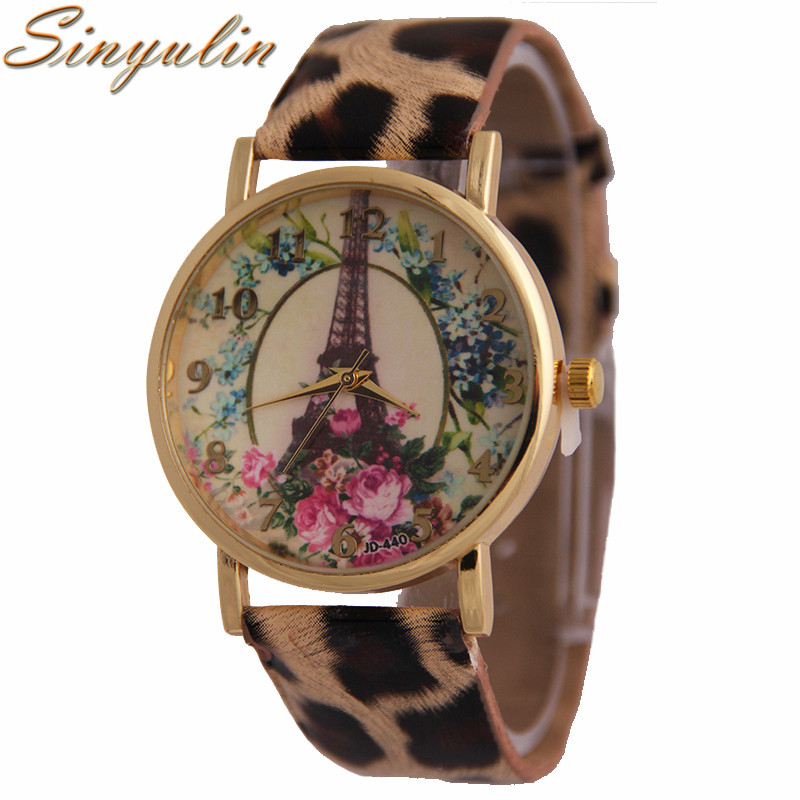 New Fashion Brand Tower Wrist Watches Women Leather Band Japan Movt Quartz Fashion Lady Watch