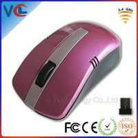 2.4ghz top digi wireless mouse with pink VMW-104 from ISO mouse factory