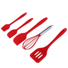 5 pieces silicone baking set Includes Spatulas/Egg Whisk/Spoon/Pastry Brush/Slotted Turner