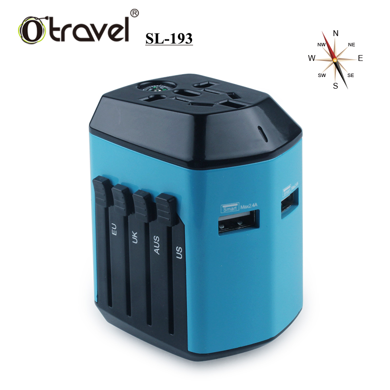 2017 Otravel new design unique 2.4A compass international universal travel power <strong>adapter</strong>