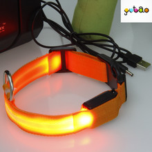 led flash rechargeable usb dog collar
