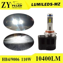2016 new design p6 55w lumileds 5200lm h4 h7 h8 h11 9005 9006 auto led headlight With Good Service