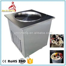 Single ice pan +6 keep fresh tanks commercial fried ice cream roll machine