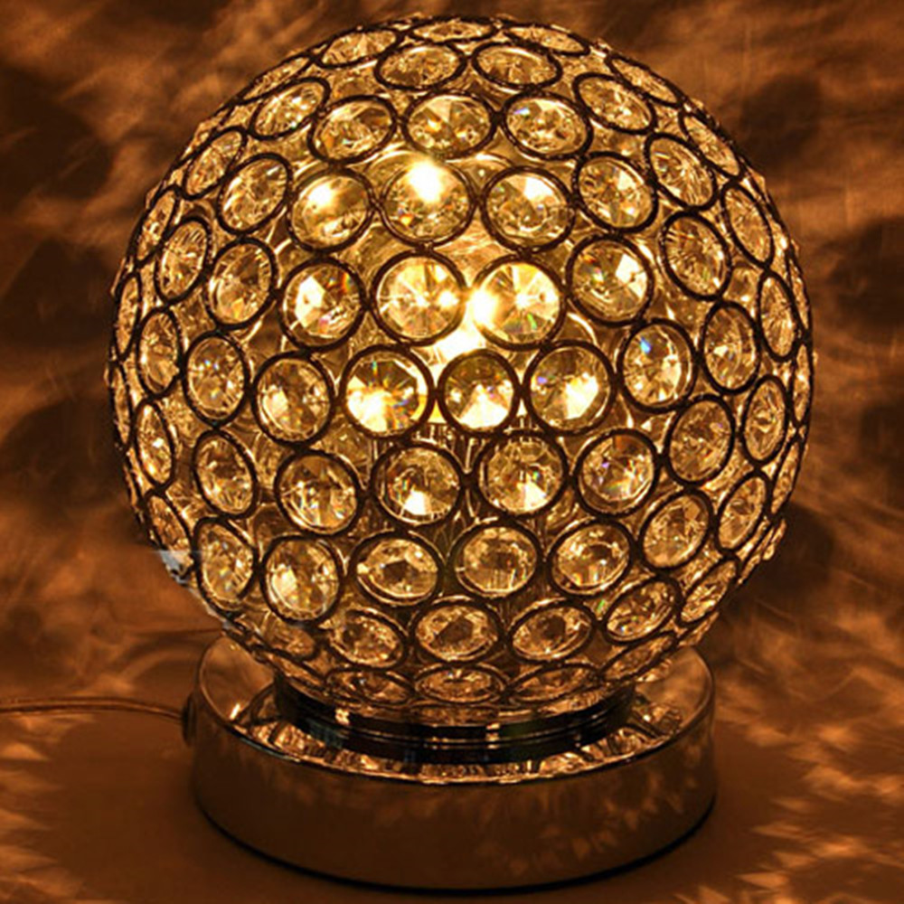 New design Italy style luxury crystal home table lamps