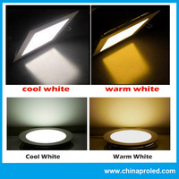 cheap factory hot 18w led panel light price round shape white/warm white with logo service