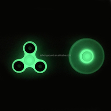 2017 glowing hand spinner 3 wind plastic fidget spinner light in the night Luminous spinner toy