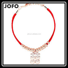 Charms Fashion Chinese Old Style Red Rope Word Lovers Bracelet