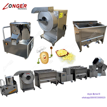 Factory Price Mini Small Scale Potato Chips Making Machine Production Line India French Fries Equipment