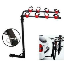Hitch Mounted Rear Car Trunk 4 Bikes Rack Bicycle Carrier