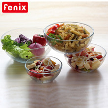4 pcs set round stackable glass baking food bowls/microwave oven safe
