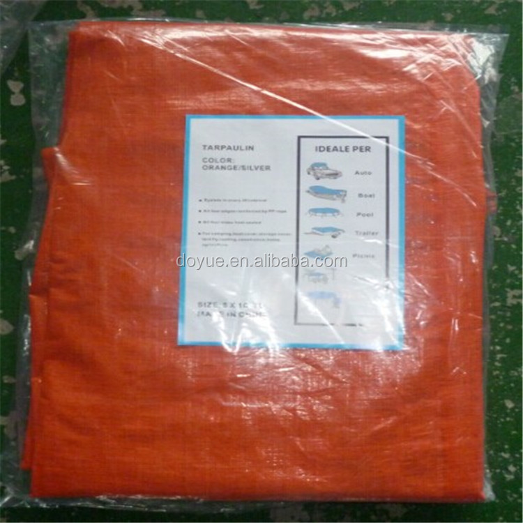 100% virgin orange tarpaulin , pe tarp lona , china pe tarpaulin factory