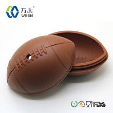 Durable unbreakable wholesale football ice ball maker aluminum, silicone football ice ball maker & custom football ice cube tray