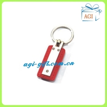 custom promotional classic leather keychain