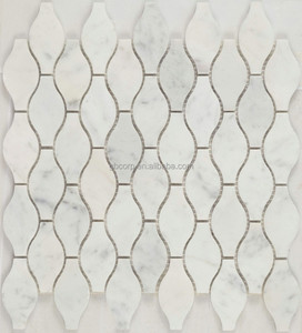 Moroccan style white marble mosaic tile marble floor tiles