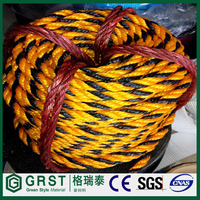 Tiger rope/barrier rope/warning rope, yellow with black color