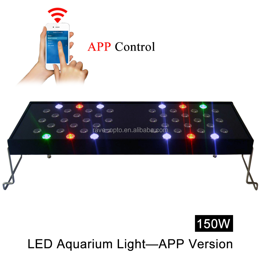 24 inch Intelligent and Programmable LED Aquarium Light with full spectrum for Coral and Reef