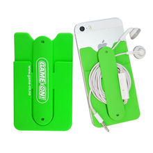 Factory Supply Silicone phone stands 3m sticker smart wallet
