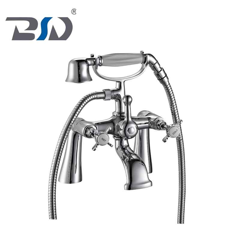 Phone pillar mounted bath shower mixer