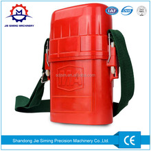 Self rescuer chemical oxygen self rescuer breathing apparatus