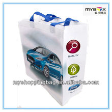 Printed Shopping Bags Fashion Non Woven Fabric Carrier Bag