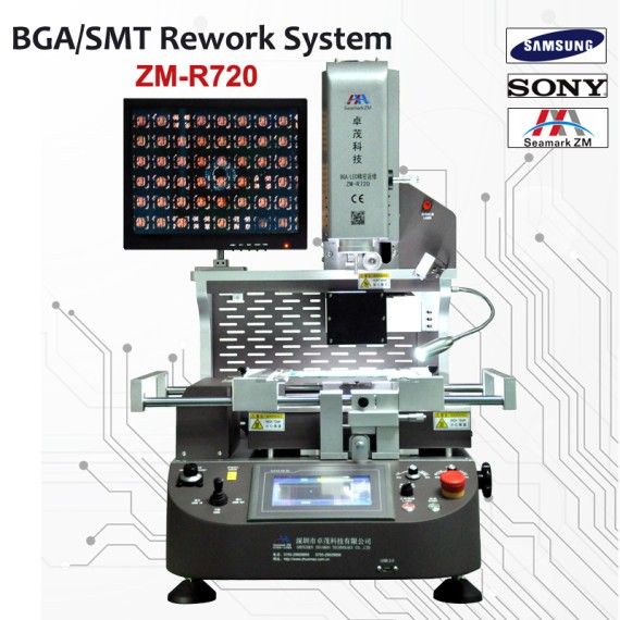 PS4 PS3 GPU Replacement Machine Zhuomao-720 BGA Rework Station for PS3 Motherboard Chip Repair