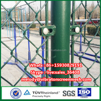 Cheap price school sports field chain link mesh fence college playground boundary fencing