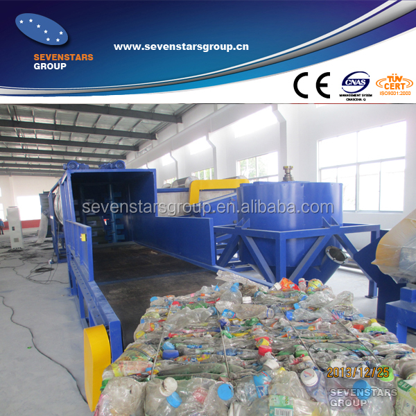 machine recycling plastic bottles
