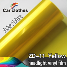 High Quality 0.3X10m Scratch Proof 3 Layers Film For Tinting Headlights Yellow Car Wrap Vinyl Film
