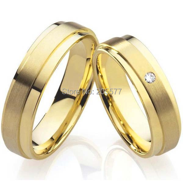 get quotations 2015 unique 18k yellow gold plating health titanium fashion jewelry mens and womens wedding bands promise - Wedding Rings For Couples