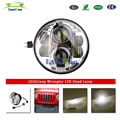 "J210 chrome black 80w high low beam 7"" round led projector headlight"