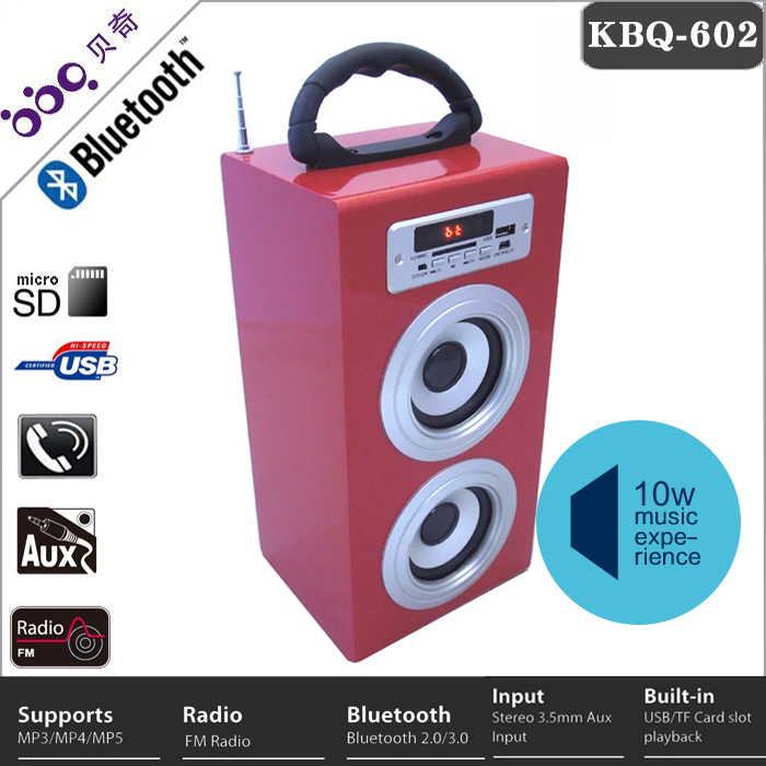 Guangdong 1200mAh lithium battery portable loudspeaker
