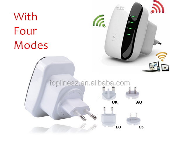 Network Routers 300Mbps 802.11 Wifi Repeater Wireless-N AP Range Signal Extender Booster EU Plug wi fi