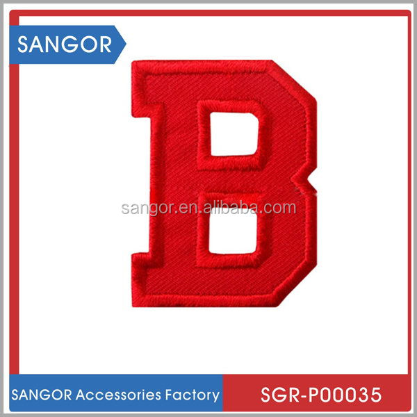 High quality designer various logo embroidery textile patches