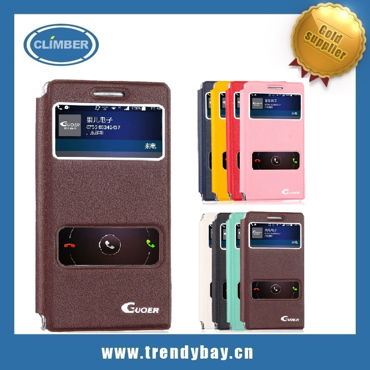 leather case for huawei ascend p6 cover