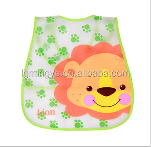Lovely design new style easy to clean EVA or PEVA small baby bib