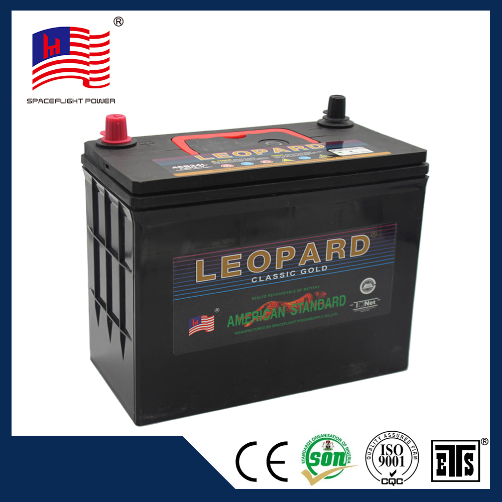 high quality 12v 45ah jis style user safety vehicles quick start car battery