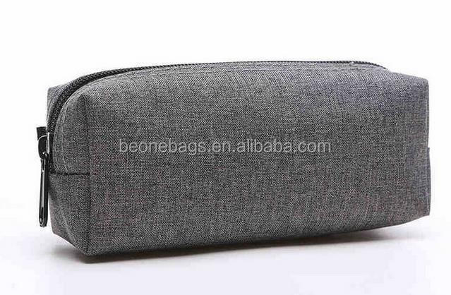 Shenzhen wholesale fashion stationary grey color bulk pencil cases for adults