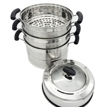 Multi-purpose commercial stainless steel food steamer