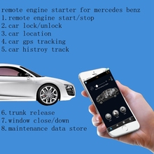 Remote Car Starters And Alarms For Mercedes Benz E Class W212 Alarms Remote Starter Bypass Full Vehicle Control By Smartphone