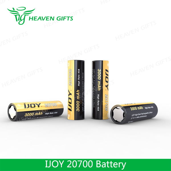 Best Selling High Drain Rechargeable Battery 3000mAh IJOY 20700