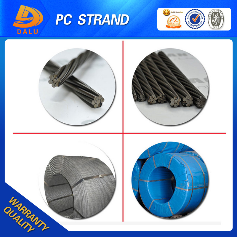 order from china direct 15.24mm and standard cross-sectional PC strand