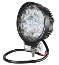 "4"" round led work light waterproof 27w off road 12-24v led trailer lights china"