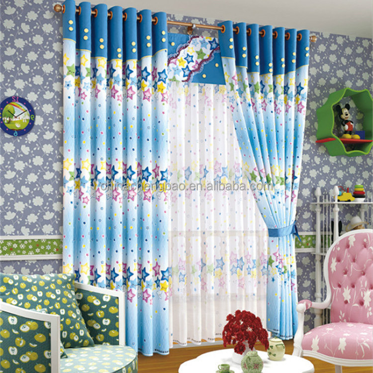 screen print designer curtain patterns to modern bedroom