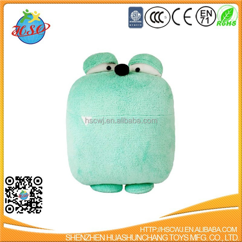 blue monster stuffed plush toy