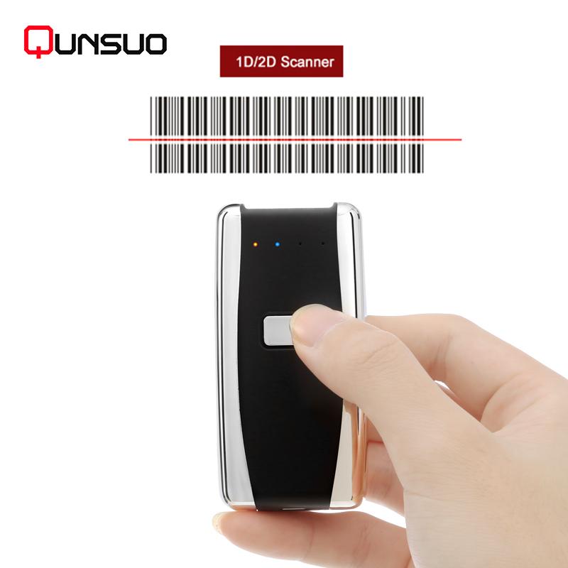 Wireless Bluetooth 1D Barcode Scanner Mini Reader
