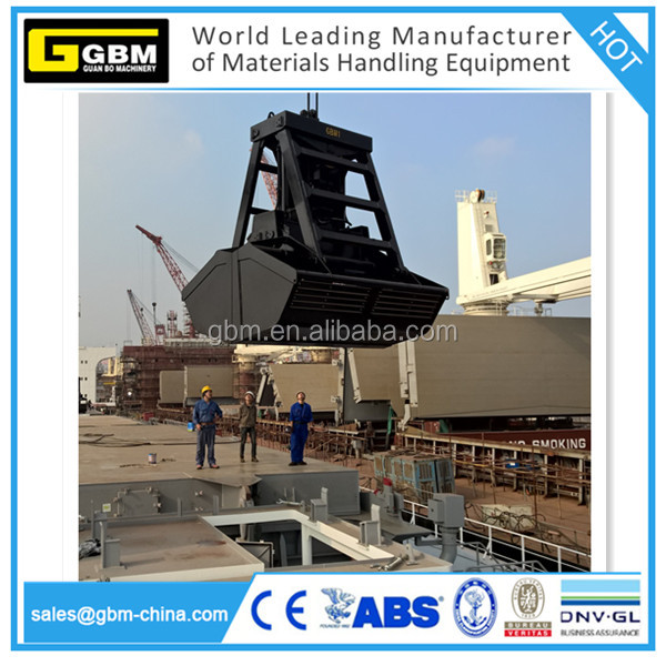 Ship Vessel 6,8,10,12 m3 remote control grab bucket for Bulk Grain and fertilizer coal