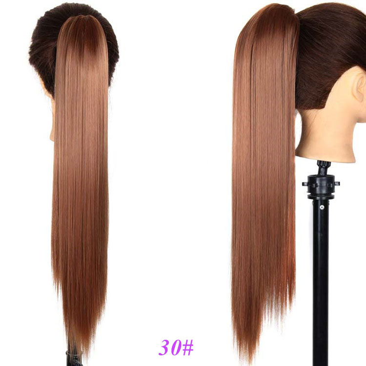2017 Hot Selling Silky Straight Wave Heat Resistant Synthetic Hair Claw Clip Pony Tail Hairpieces for Women
