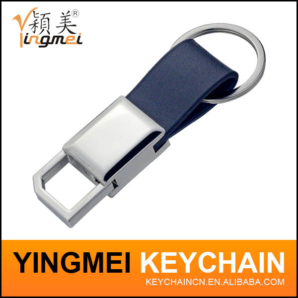 Promotion OEM Metal leather zinc alloy key chain for car holder